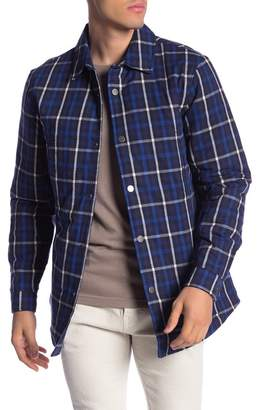 Slate & Stone Plaid Printed Snap Shirt Jacket