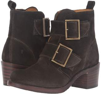 Frye Sabrina Double Buckle Cowboy Boots