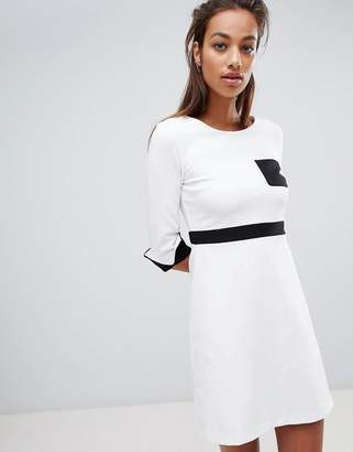 French Connection Stretch Fit and Flare Pocket Dress