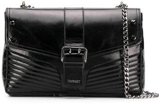 Twin-Set front buckle shoulder bag
