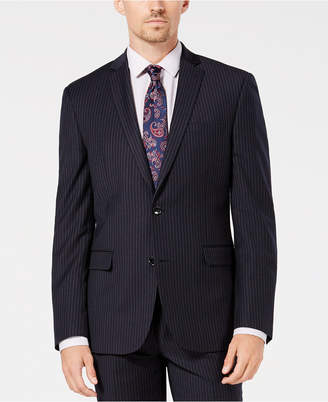 Bar III Men's Slim-Fit Stretch Blue Stripe Suit Jacket