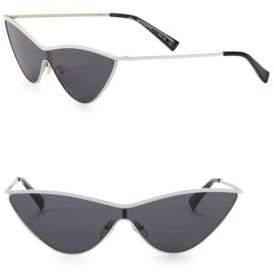 Le Specs Adam Selman x Luxe The Fugitive White Sunglasses