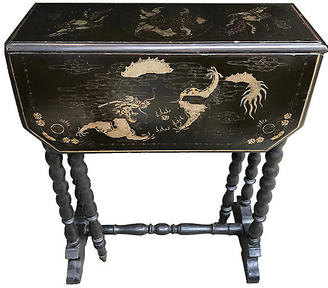 Chinoiserie Drop-Leaf Table