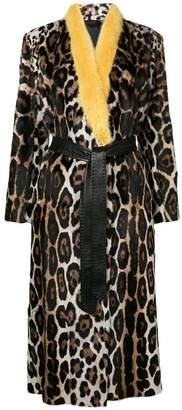Liska leopard patterned coat