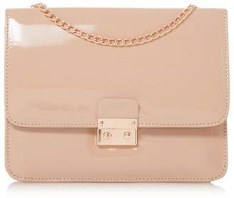 at Debenhams Head Over Heels by Dune - Bess' Square Lock Chain Strap Bag