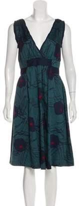 Marc Jacobs Abstract Print Midi Dress