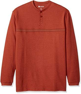 Haggar Men's Big&Tall Long Sleeve Hi-Definition Ottoman Knit Henley