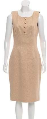 Dolce & Gabbana Metallic Midi Dress