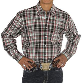 Cinch Men's Modern Fit Long Sleeve Bias Plaid Button Down