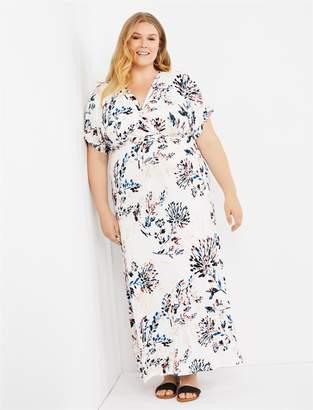 002cbd13086ee Motherhood Maternity Plus Size Tie Detail Pull Over Nursing Dress