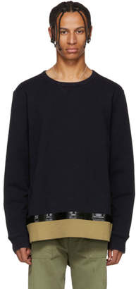 Marni Navy Bonded Tape Sweatshirt