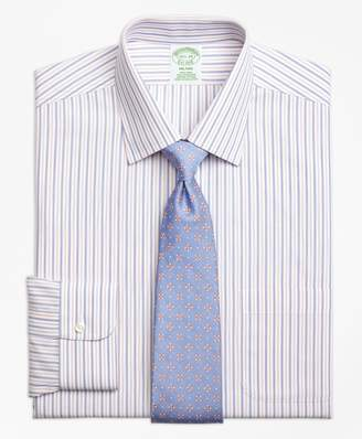 Brooks Brothers Milano Slim-Fit Dress Shirt, Non-Iron End-on-End Alternating Stripe