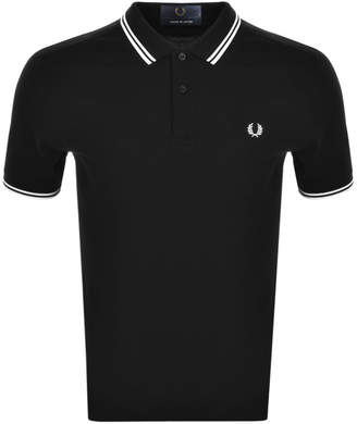 Fred Perry Made In Japan Tipped Polo T Shirt Black