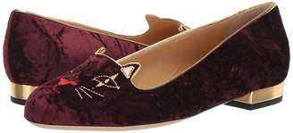 Charlotte Olympia Cat LW Loafer Women's Slip on Shoes