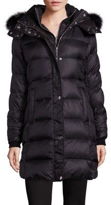 Andrew Marc Fox Fur-Trim Down Puffer Coat $595 thestylecure.com