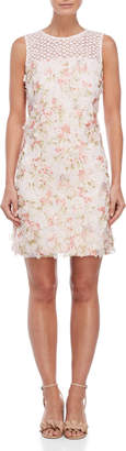 Karl Lagerfeld Paris Floral Applique Shift Dress