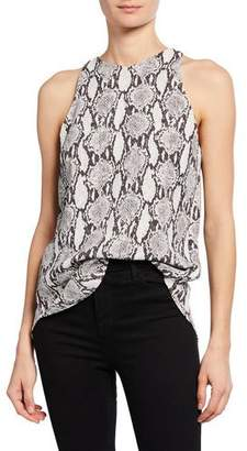 A.L.C. Anise Sleeveless Snake-Print Top