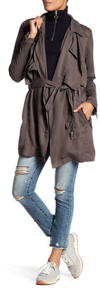 BLANKNYC Denim Draped Trench Coat $148 thestylecure.com