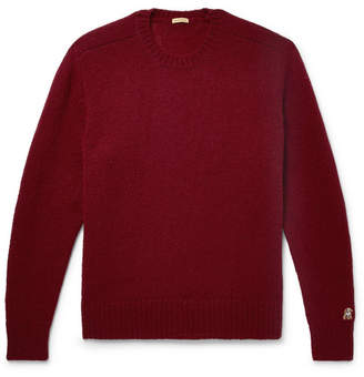Undercover Shepherd Wool Sweater - Burgundy