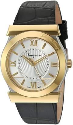 Salvatore Ferragamo Men's FI0950014 Vega Analog Display Swiss Quartz Black Watch