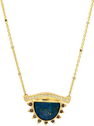 Lapis Conges I Protect What I See Large Third Eye Necklace