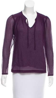Yigal Azrouel Cut25 by Sheer Long Sleeve Top