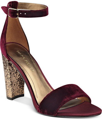 Marc Fisher Factor Block-Heel Dress Sandals $79 thestylecure.com