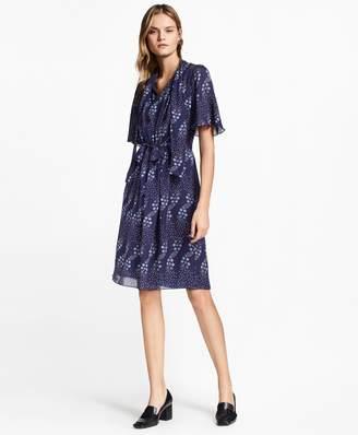 Brooks Brothers Floral-Print Silk Georgette Dress