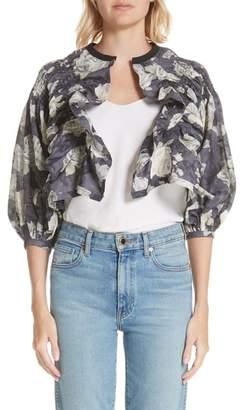 Comme des Garcons Rose Print Jacket
