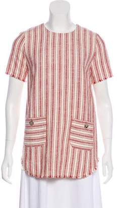 Rachel Zoe Tweed Short-Sleeve Top w/ Tags