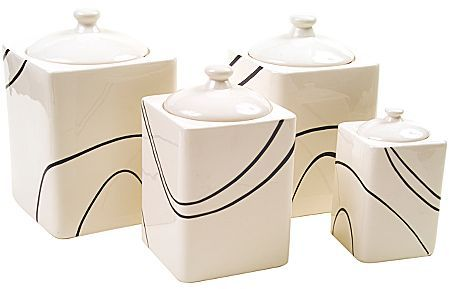 Corelle Simple Lines 4-pc. Canister Set
