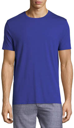 Derek Rose Basel 3 Crewneck Lounge T-Shirt, Blue