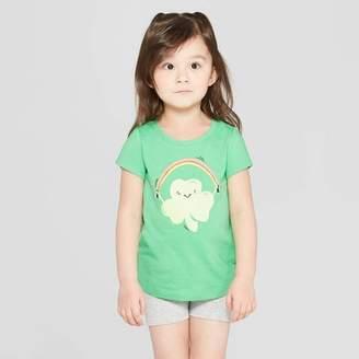 46f626f37a4a Cat & Jack Toddler Girls' Short Sleeve 'Shamrock Jump' Graphic T-Shirt