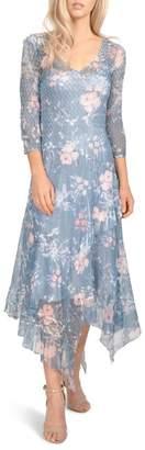 Komarov Charmeuse & Chiffon Midi Dress (Regular & Petite)