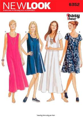 New Look Sewing Pattern 6352 Misses Dresses