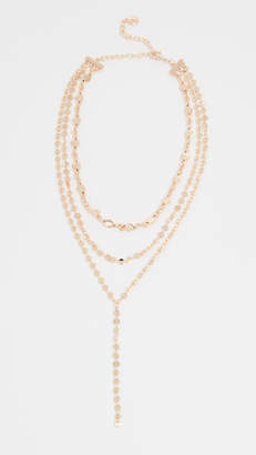BaubleBar Aimee Layered Y Chain Necklace