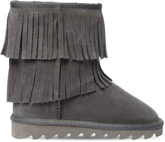 Colors of California Fringed Suede Boots