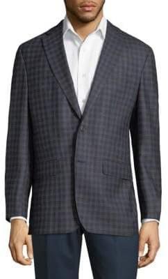 Jack Victor Gingham Merino Wool Jacket