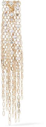 Lanvin Fringed Gold-tone Swarovski Crystal Brooch