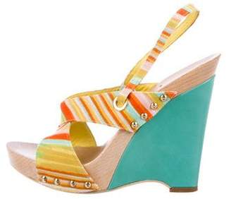 Missoni Woven Slingback Wedges