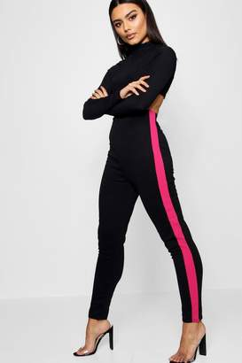 boohoo Side Panel Ponte Treggings