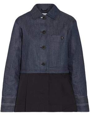 Elizabeth and James York Detachable Pleated Cotton-Poplin And Denim Jacket