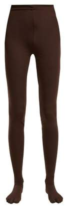 Richard Quinn - High Rise Leggings - Womens - Dark Brown