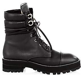 Stuart Weitzman Women's Lexy Leather Combat Boots