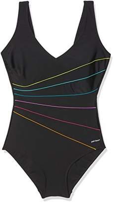 Palm Beach Women's Anzug Best Basic Swimsuit, Multicolour (Schwarz/Multi ), (Size: 40C)