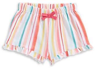First Impressions Girl's Watercolour Ruffle Cotton Shorts