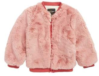 Rock Your Kid Stevie Faux Fur Bomber Jacket