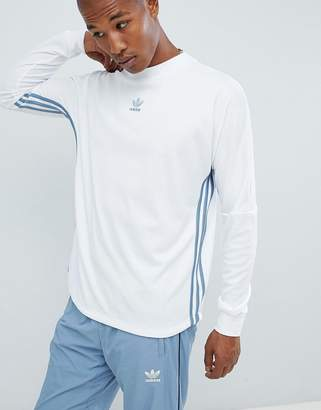 adidas Authentic Long Sleeve Top In White DJ2867