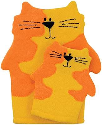 Rich Frog Mom and Mini Wash Mitts, Cats by