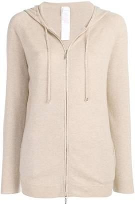 Max Mara hooded zip-up cardigan